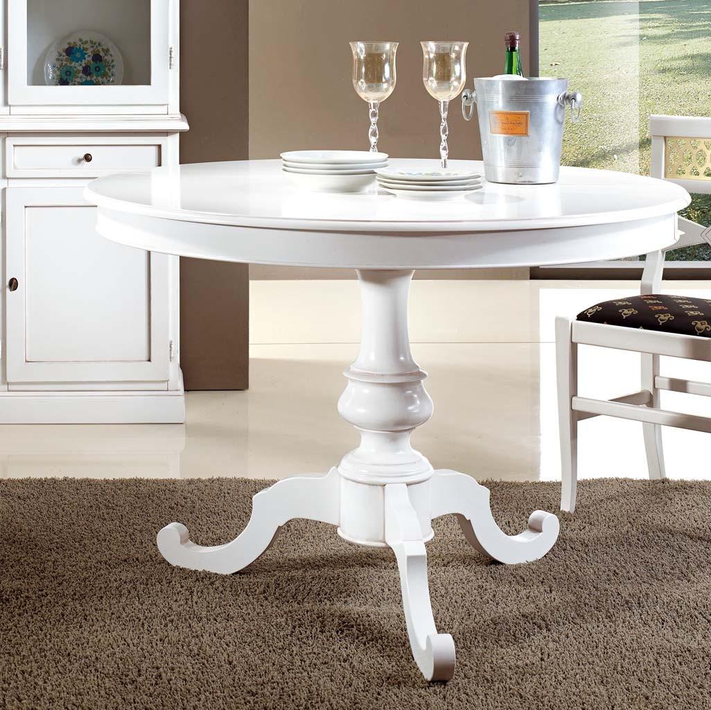 Art wt 8641 tavolo tondo laccato bianco opaco for Tavolo tondo bianco