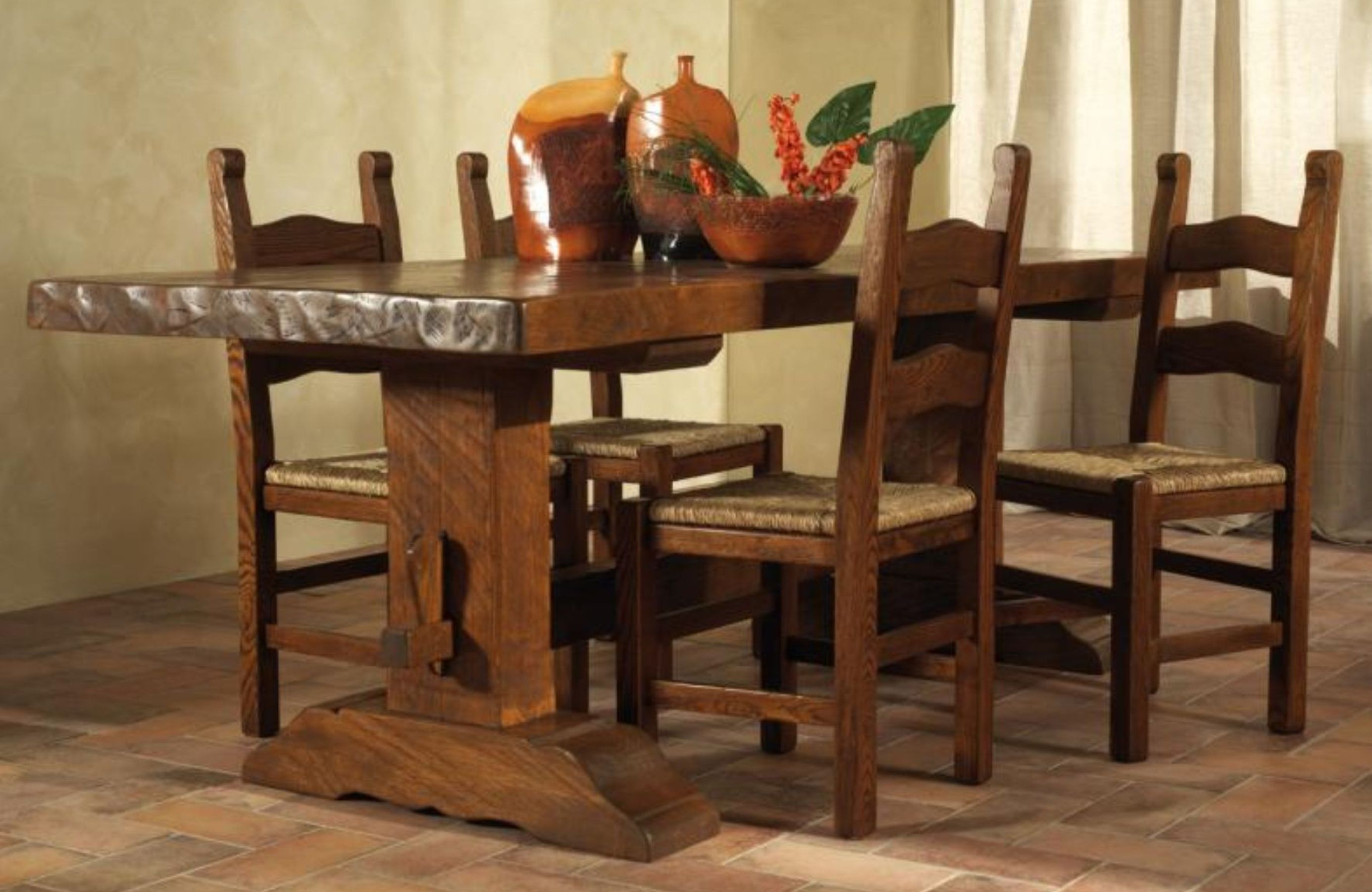 Soggiorno in legno massello - Sedie per tavolo fratino ...