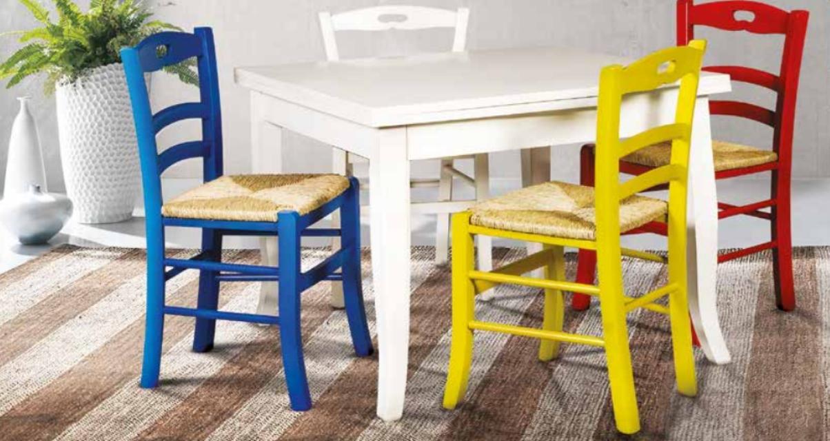 Tavolo Bianco E Sedie Colorate.Art Wt 388 Tavolo Cerato Bianco Art Ws 388 S Sedie