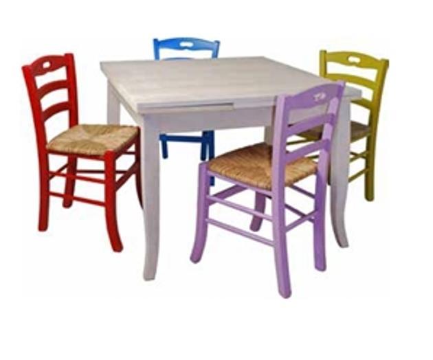 Sedie colorate legno con tavolo legno la scelta giusta for Tavolo legno con sedie colorate