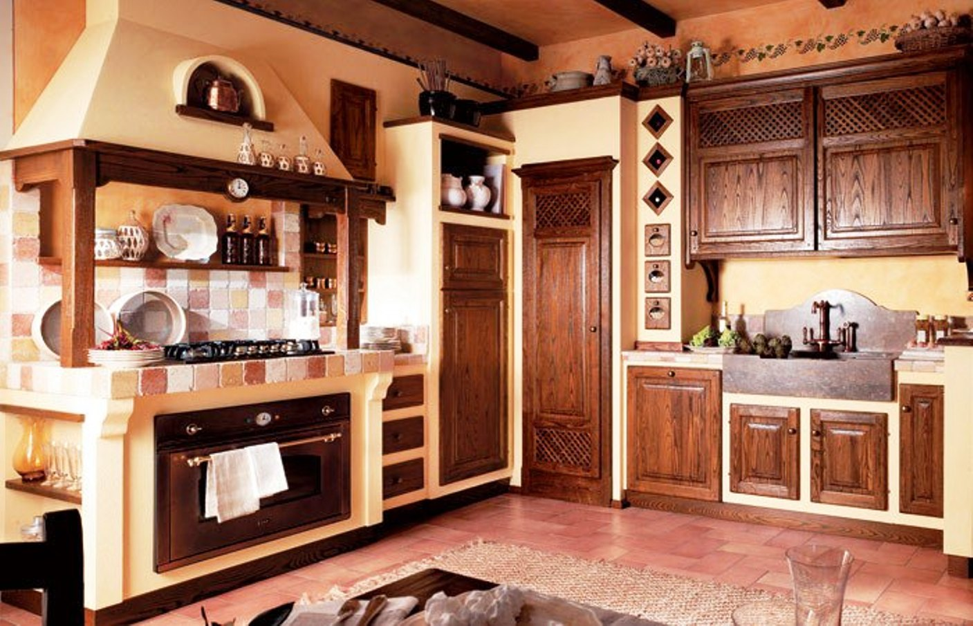 Cucine country in muratura ua84 regardsdefemmes for Foto di cucine