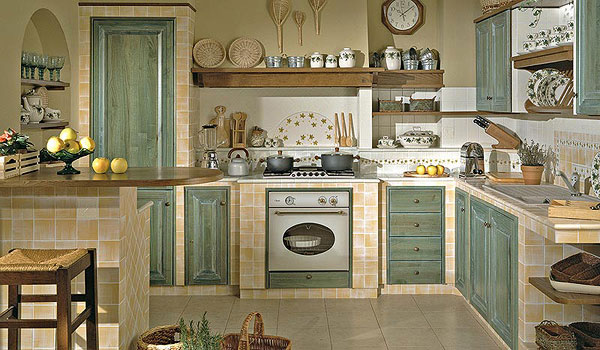 Cucina in muratura for Cucina di campagna inglese