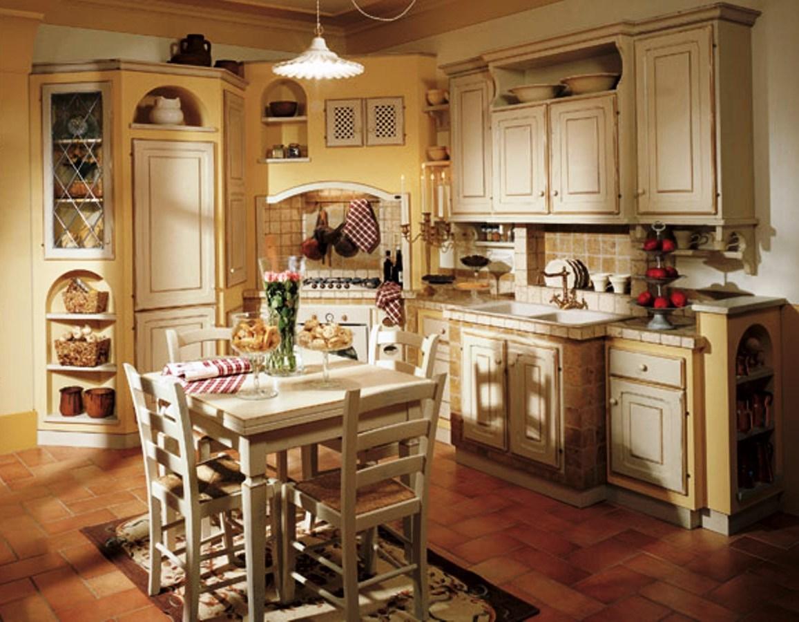 Cucina in muratura - Cucine componibili bianche ...