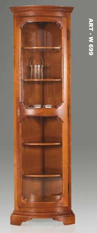 angoliera vetrina laccata stile veneziano : ART - W 699 - ANGOLIERA A VETRINA BIANCA LACCATA COME FOTO