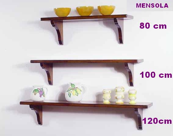 Supporti Per Mensole In Legno.Art W 1230 Mensole Con Supporti Legno
