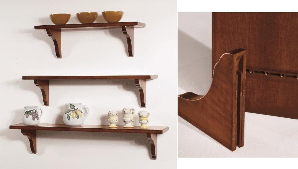 Art w 1230 mensole con supporti legno for Supporti per mensole