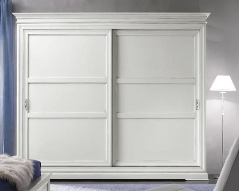 Armadio Laccato Bianco : Art w armadio scorrevole legno laccato bianco