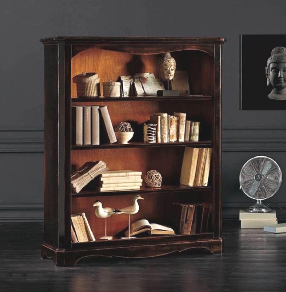 Art w 782 libreria bassa nera for Vetrinetta bassa arte povera