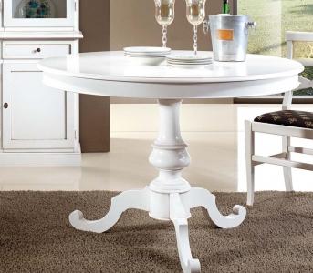 Tavolo Tondo Laccato Bianco.Art Wt 8641 Tavolo Tondo Laccato Bianco Opaco